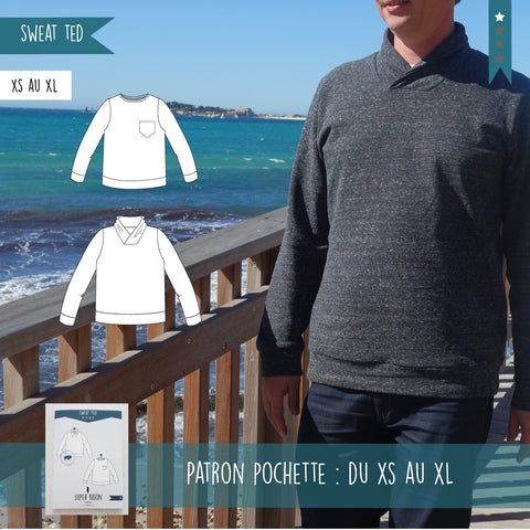 Patron Sweat Ted du XS au XL