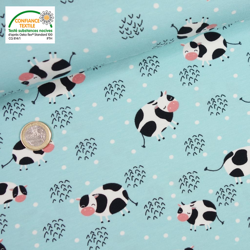 Jersey vache turquoise