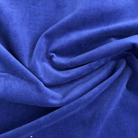 Velours stretch bleu intense