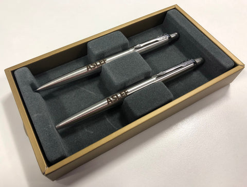 Silver ASLEF Parker pen and pencil set