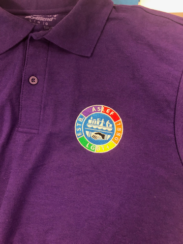 ASLEF LGBT+ polo shirt