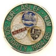 NUR - ASLEF - NUM Silver Solidarity Badge