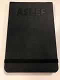 ASLEF flip book - ruled notebook with elastic