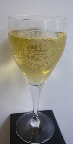 ASLEF wine glass