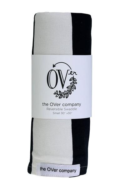 the OVer Company Jersey Knit Reversible Swaddle