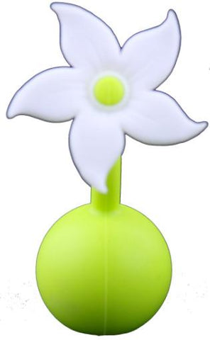Haakaa Silicone Breast Pump White Flower Stopper