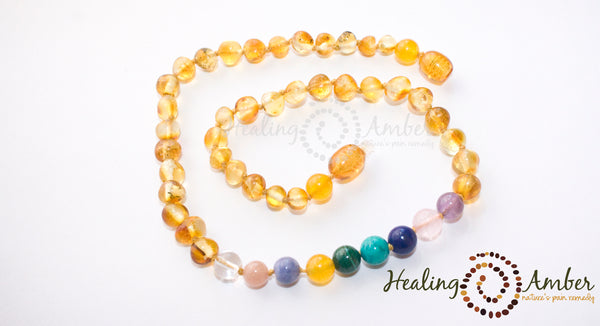 Gold Amber & Gemstone Medley