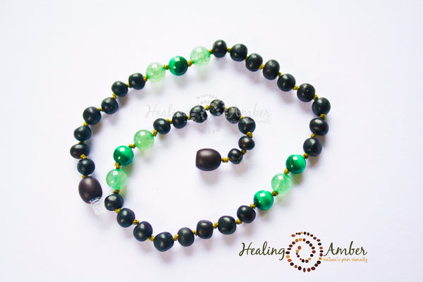 Raw Molasses & Green Aventurine & Malachite