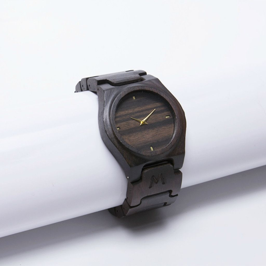 Gili Ebony Wood Watch