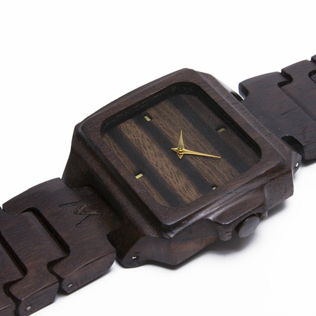 Rote Makassar Ebony Wood Watch