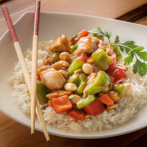 Honey Pepper Chicken with Fresh Peppers & Rice - Chicken Breast Included
