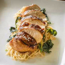 Honey Sriracha Chicken Breasts with Stir Fried Noodles - Just-Add-Meat