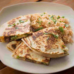 Steak Quesadillas with Spanish Rice - Just-Add-Meat