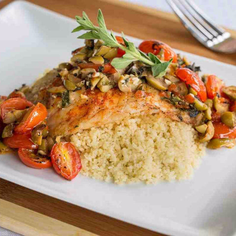Tilapia Veracruz with Couscous & Olives - Tilapia Included