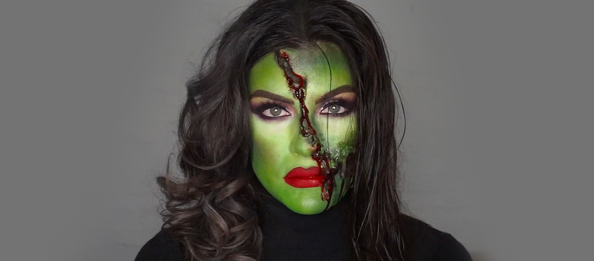 Glam vs Gore Scary Witch: SFX Tutorial, Part 4
