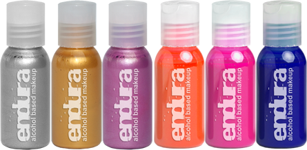 alt European Body Art Endura 6-pack 1oz. Fluoro Metallic