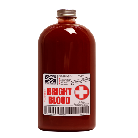 alt European Body Art - Transfusion Blood - Bright Blood 2oz