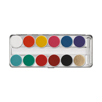alt Kryolan Aquacolor Palette 12 Colors FP