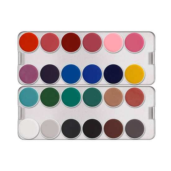 alt Kryolan Aquacolor Palette 24 Colors AC