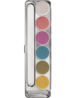 Kryolan Aquacolor Interferenz Palette 6 Colors