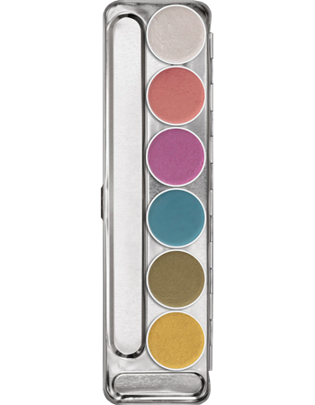 alt Kryolan Aquacolor Interferenz Palette 6 Colors BBB