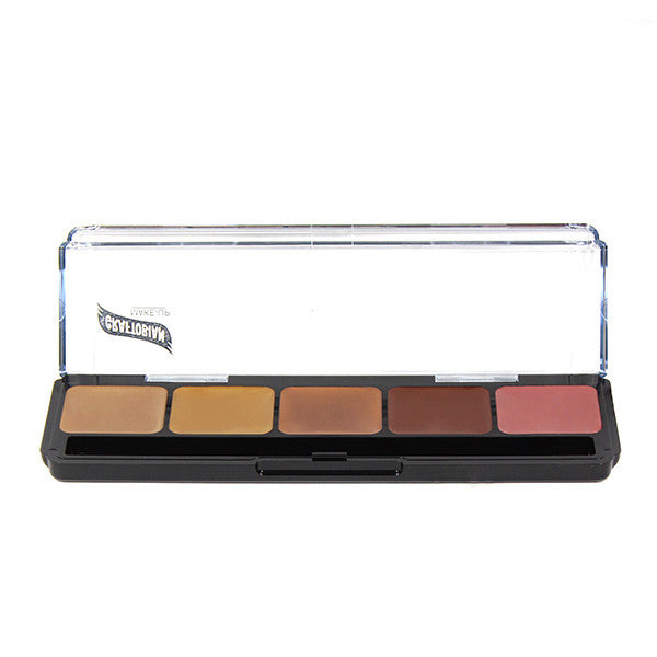 Graftobian Hi-Def Creme Foundation Palette - Neutral Speciality (Neutral #4) (30274) | Camera Ready Cosmetics - 7