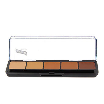 Graftobian Hi-Def Creme Foundation Palette - Warm #3 (30253) | Camera Ready Cosmetics - 11
