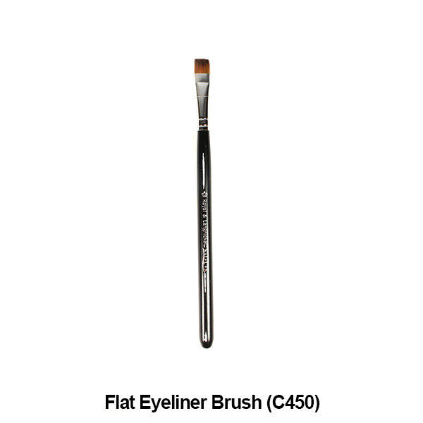 Graftobian Pro Royal Silk Line Individual Brushes (Sold Separately) - Flat Eyeliner Brush (78115) | Camera Ready Cosmetics - 18