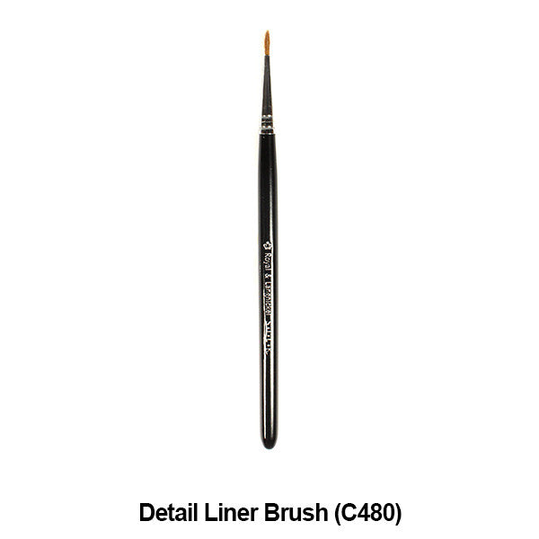 Graftobian Pro Royal Silk Line Individual Brushes (Sold Separately) - Detail Liner Brush (78118) | Camera Ready Cosmetics - 11