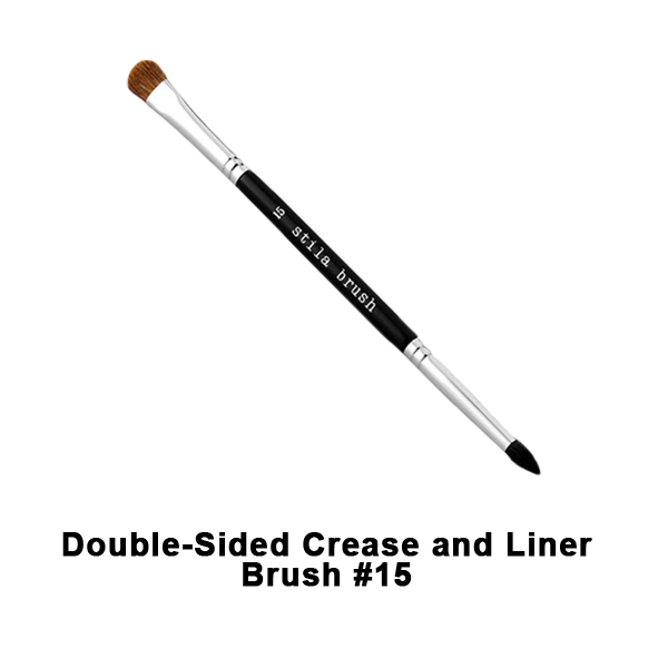 Stila Brushes - #15 Double Sided Crease and Liner Brush | Camera Ready Cosmetics - 12