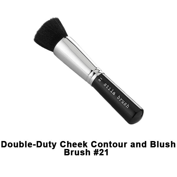 Stila Brushes - #21 Double Duty Cheek Contour and Blush Brush | Camera Ready Cosmetics - 16