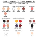 Ben Nye Theatrical Creme Makeup Kit (USA Only) - TK-1 Fair Female: Light-Medium | Camera Ready Cosmetics - 2