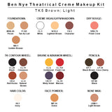 Ben Nye Theatrical Creme Makeup Kit (USA Only) - TK-5 Brown: Light Brown | Camera Ready Cosmetics - 6