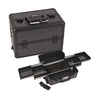 JUST CASE PRO MAKEUP CASE (USA ONLY) - All Black Diamond (E3301DMAB) | Camera Ready Cosmetics - 6