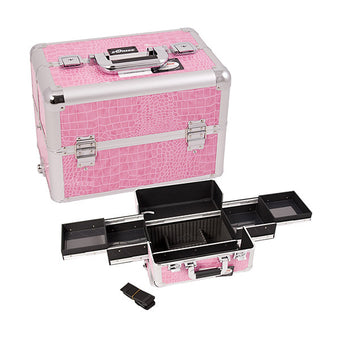 JUST CASE PRO MAKEUP CASE (USA ONLY) - Pink Croc (E3301CRPK) | Camera Ready Cosmetics - 10