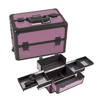 JUST CASE PRO MAKEUP CASE (USA ONLY) - Purple/Bk Diamond (E3301DMPLB) | Camera Ready Cosmetics - 11