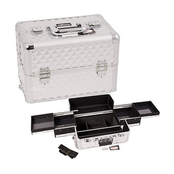 JUST CASE PRO MAKEUP CASE (USA ONLY) - Silver Diamond (E3301DMSL) | Camera Ready Cosmetics - 12