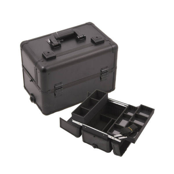 JUST CASE PRO MAKEUP CASE E3302 (USA ONLY) - All Black (E3302PPAB) | Camera Ready Cosmetics - 2