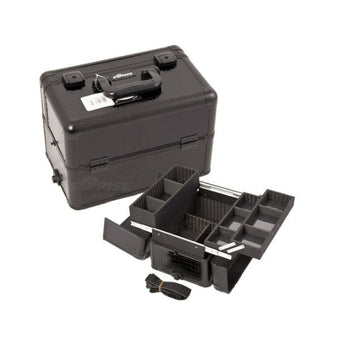 JUST CASE PRO MAKEUP CASE E3302 (USA ONLY) - All Black Croc (E3302CRAB) | Camera Ready Cosmetics - 4