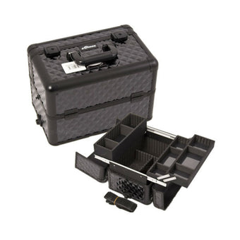 JUST CASE PRO MAKEUP CASE E3302 (USA ONLY) - All Black Diamond (E3302DMAB) | Camera Ready Cosmetics - 6
