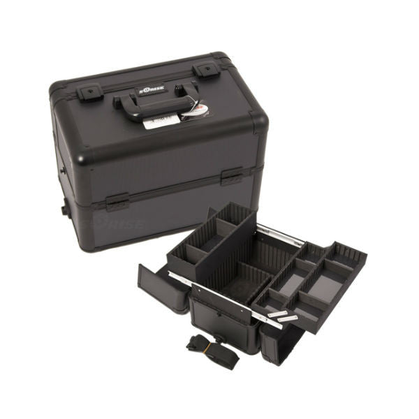 JUST CASE PRO MAKEUP CASE E3302 (USA ONLY) - All Black Dot (E3302DTAB) | Camera Ready Cosmetics - 8