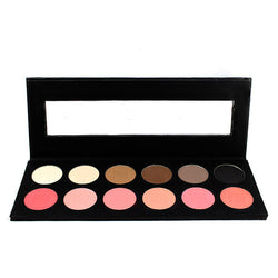 Ben Nye 12-Color  Eye Shadow and Rouge Palette -