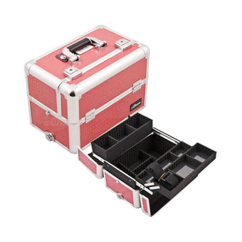 JUST CASE PRO MAKEUP CASE E3302 (USA ONLY) - H-Pink Croc (E3302CRPK) | Camera Ready Cosmetics - 9