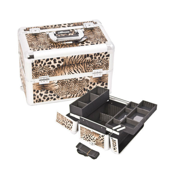 JUST CASE PRO MAKEUP CASE E3302 (USA ONLY) - Leopard Brown (E3302LPBR) | Camera Ready Cosmetics - 10