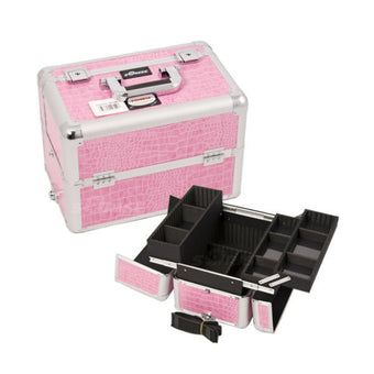 JUST CASE PRO MAKEUP CASE E3302 (USA ONLY) - Pink Croc (E3302CRPK) | Camera Ready Cosmetics - 11