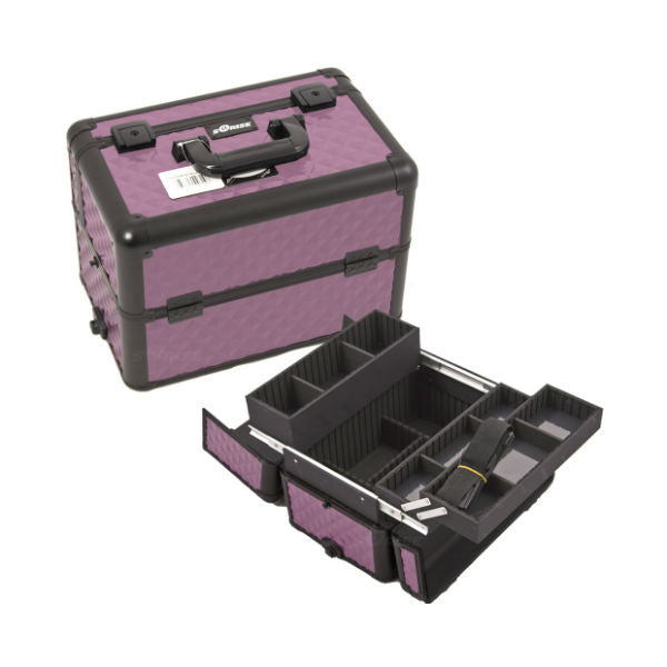 JUST CASE PRO MAKEUP CASE E3302 (USA ONLY) - Purple/Bk Diamond (E3302DMPLB) | Camera Ready Cosmetics - 12
