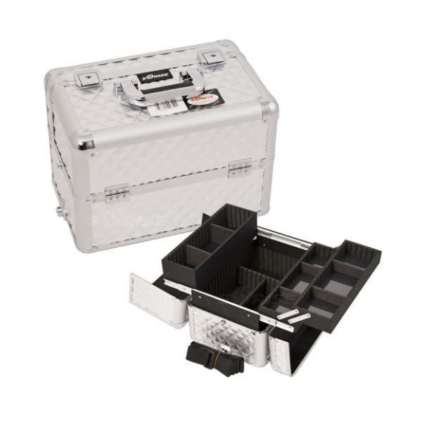 JUST CASE PRO MAKEUP CASE E3302 (USA ONLY) - Silver Diamond (E3302DMSL) | Camera Ready Cosmetics - 13
