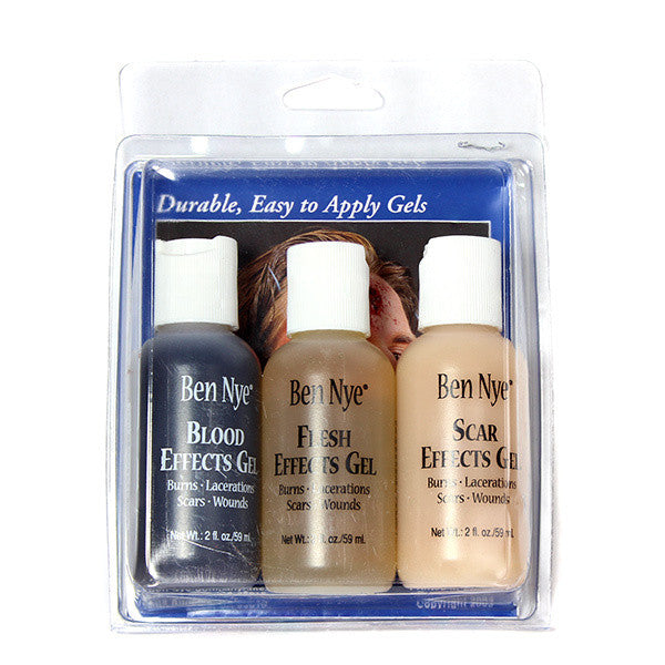 Ben Nye Effects Gel Wound Kit (Set of 3) -  | Camera Ready Cosmetics - 3