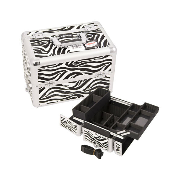 JUST CASE PRO MAKEUP CASE E3302 (USA ONLY) - Zebra White (E3302ZBWH) | Camera Ready Cosmetics - 15