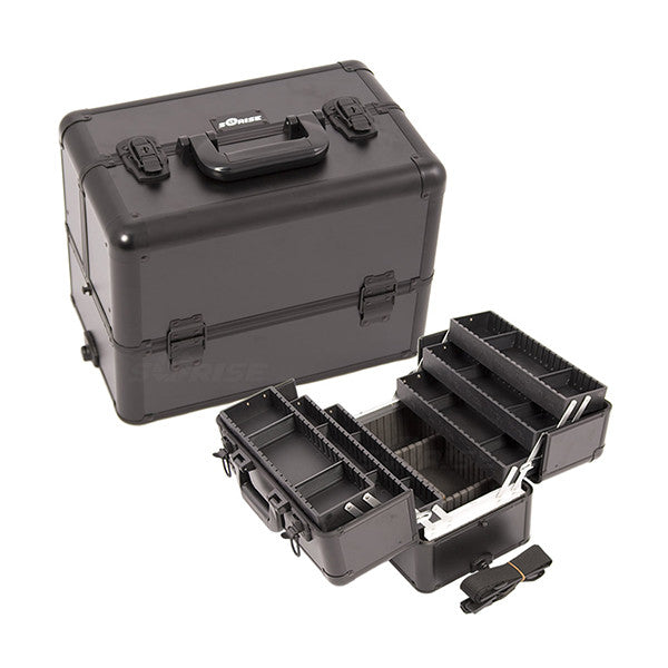 JUST CASE - PRO MAKEUP CASE (USA ONLY) - All Black (E3304PPAB) | Camera Ready Cosmetics - 2